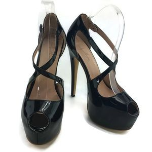 Only Maker High Heel Peep toe stiletto size 9